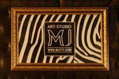 Luxury Office - Art Studio MJ - Exclusive Gold Frame